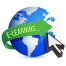 elearning globe illustration design